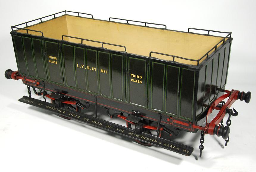 Model Manchester & Leeds Railway carriage