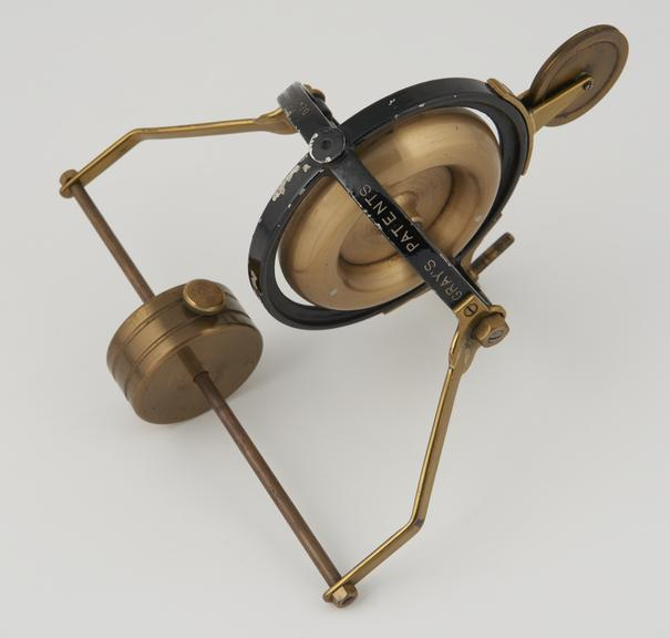 4 ball bearing gyroscope with wheel for balancing on wire'