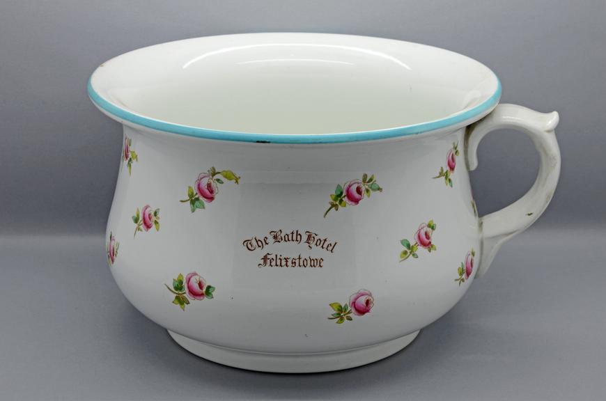 Ceramic chamber pot, Bath Hotel - Felixstowe