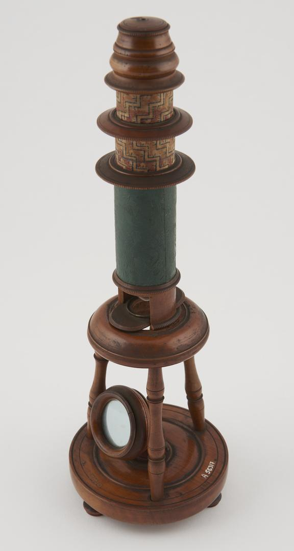 Nuremburg type compound microscope, marked IM' in wavy circle, German, 1781-1820'