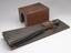 Wheatstone's artificial voice-box, 1835. Front three quarter view of whole object with cover box removed. Graduated