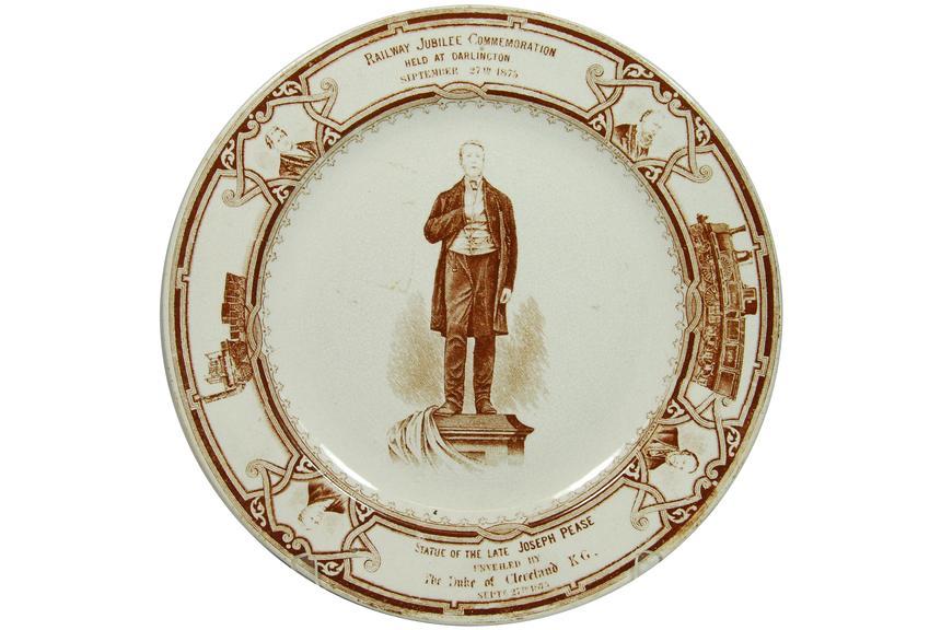 Joseph Pease memorial plate