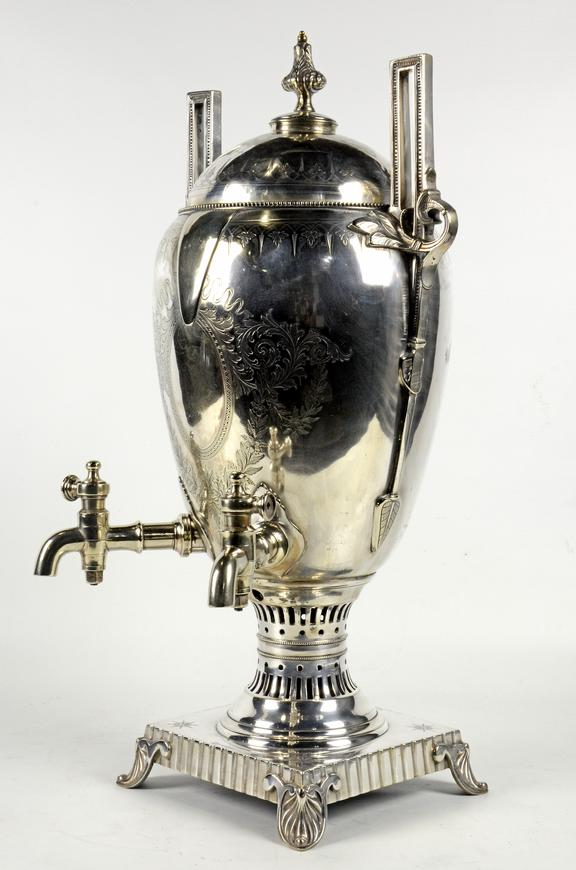 Silver plated tea urn, Manchester Sheffield & Lincolnshire Railway