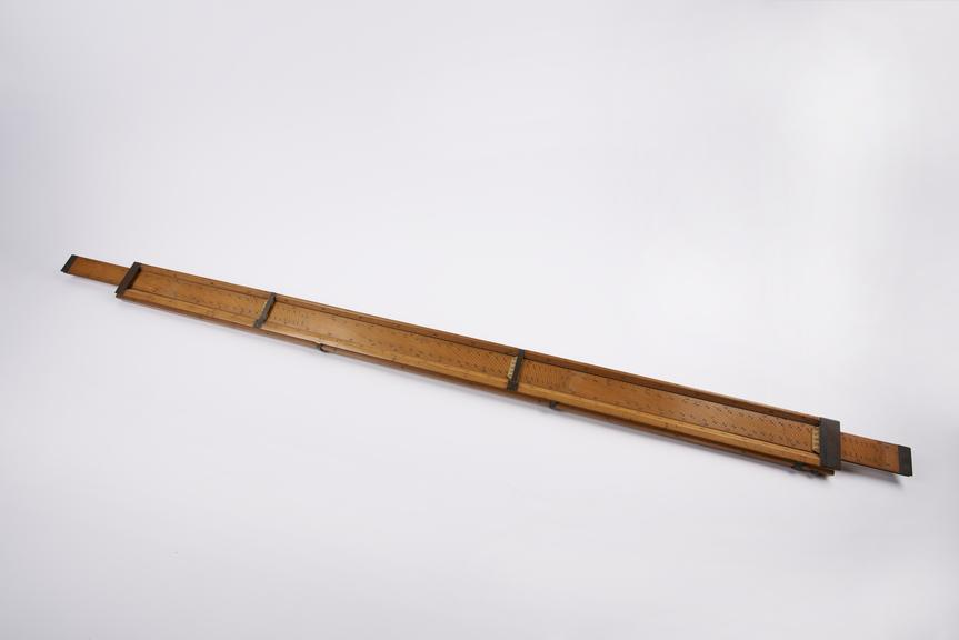 Ham's Ullage rule, 4ft x 2 5/8, with one slide, c. 1880'