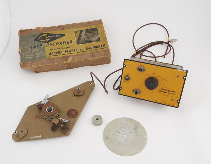 Gramdeck' tape deck and control unit, 1957'
