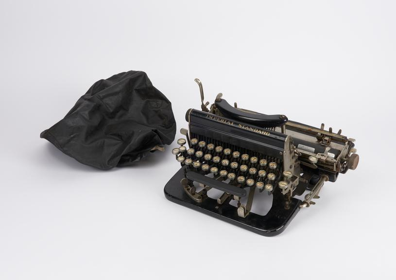 Imperial Standard typewriter, model D, No.D54307, with cloth cover