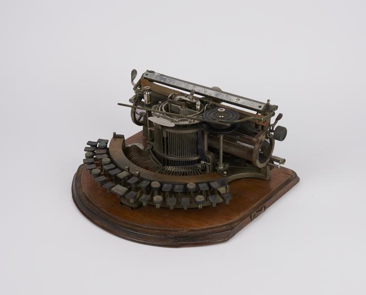 Hammond typewriter, c. 1895, with braille markings on keys