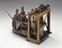 Model of modified side-lever marine engine, 1840-1850, England. From a colour transparency in the Science Museum