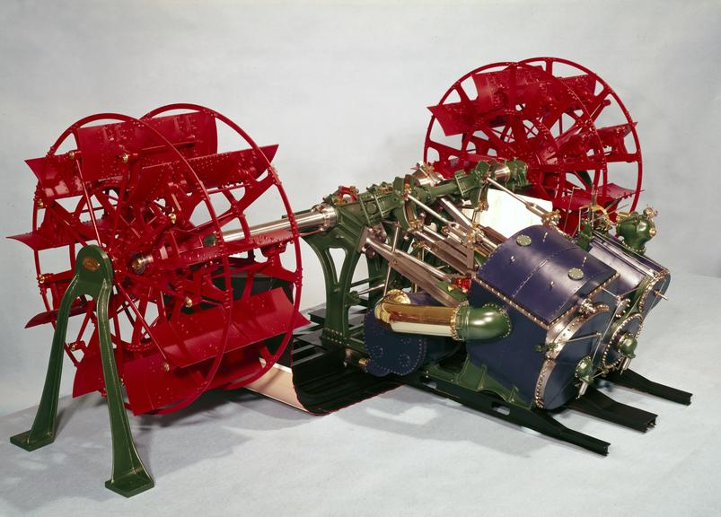 """Model on a scale of 1 inch to 1ft of the engines of the P.S. """"Princesse Henriette"""" and P.S. """"Princesse Josephine"""" 1888,"""