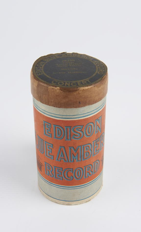 Phonograph cylinder titled ?Gloria ? Easter Hymn?, associated with a cabinet model 'Amberola' phonograph, by Edison,