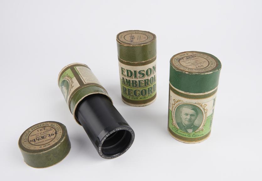 Three Edison Amberol (4 minute) records.