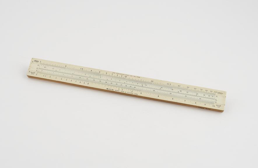 Slide rule, 11 made of bamboo in occupied Japan'