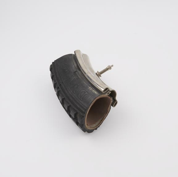 6 section, cover, tube and rim: 3.25' Dunlop wired tyre on W.M.2 rim, for motor cycles'