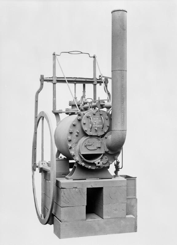 Trevithick's high pressure steam engine, c 1805. Front view. March 1926.