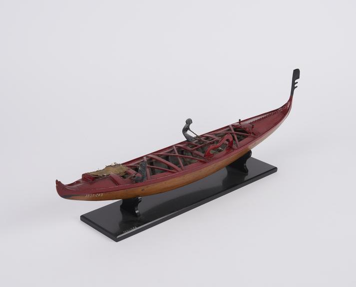 model of Racing Gondola', from Venice'