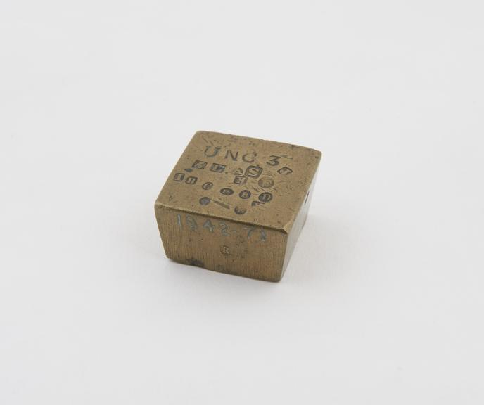 One of  5 old brass weights of the Italian Papal States (standard of Lucca - Peso Grosso') AD 1710-1715, all with