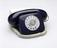 Jubilee Telephone, royal blue, 2S/A 4271 FWB 77/1. Three quarter front view, light grey background