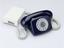 Jubilee Telephone, royal blue, 2S/A 4271 FWB 77/1. Three quarter top view, light grey background