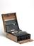 Three-ring Enigma cypher machine complete in wooden transit case, together with original German battery (Serial number