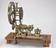 Rose engine lathe belonging to Lord Macclesfield, c1740. General front three quarter view. Light grey background
