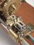 Rose engine lathe belonging to Lord Macclesfield, c1740. Close up view of cutting tool assembly. Light grey background