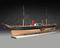 Rigged model of the P.S. 'Scotia' (1861), Cunard liner, with 8 life boats with oars, 2 masts, 2 funnels, 2 paddle