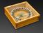 Six inch compass in glazed box
