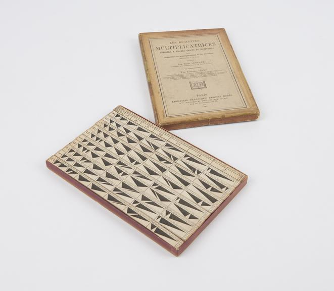 One of two boxed sets of Genaille's rods, 1885: reglettes multisectrices' and 'reglettes multiplicatrices''