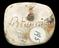 """1 Plaster mould, Merman blowing conch shell, marked on back """"R. Hamilton"""", ovoid shape 1 7/8"""" x 1 1/2"""". Back view to"""
