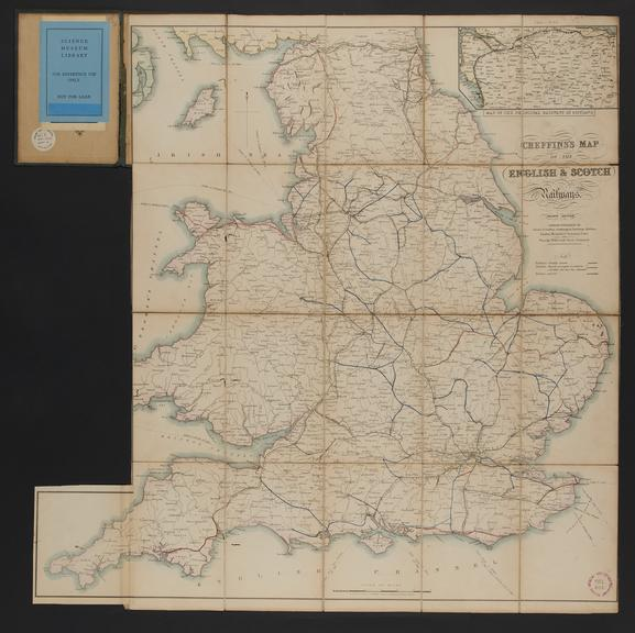 """Cheffins's Map of the English & Scotch Railways / C. F. Cheffins. 1845.               [4th ed. Scale 1"""" : c.13 1/2m. Part of the"""