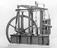 Beam engine, c.1840. The engine has an entablature supported by six columns, overhead parallel motion, and a tank bed.