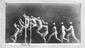Digitally Altered Exhibition Print of a Photograph showing phases of movement of a man jumping a wall, made by Étienne-Jules Marey, c 1892.