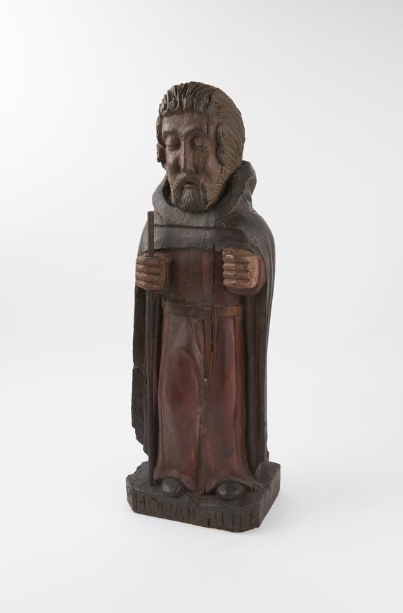 Statue of Saint Houarniaule (or Herv?), wood, France, 1601-1700 (?) (see note).