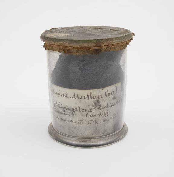 Imperial Merthyr' coal, Aberdare, Glamorganshire, analysed by W.J. Ward, presented by Livingston, Richards and Almonds'