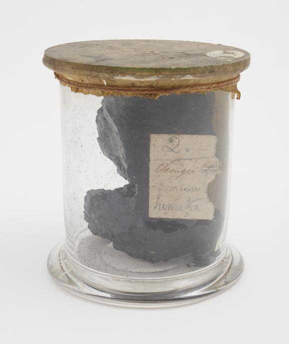 Coal from Sumatra, called Soengei Doerian' coal, analysed by W.J. Ward, 1872'