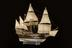 Model with full rigging and figure on deck, scale 1:48, of the Elizabethan Galleon, 'Elizabeth Jonas' built c.1600,