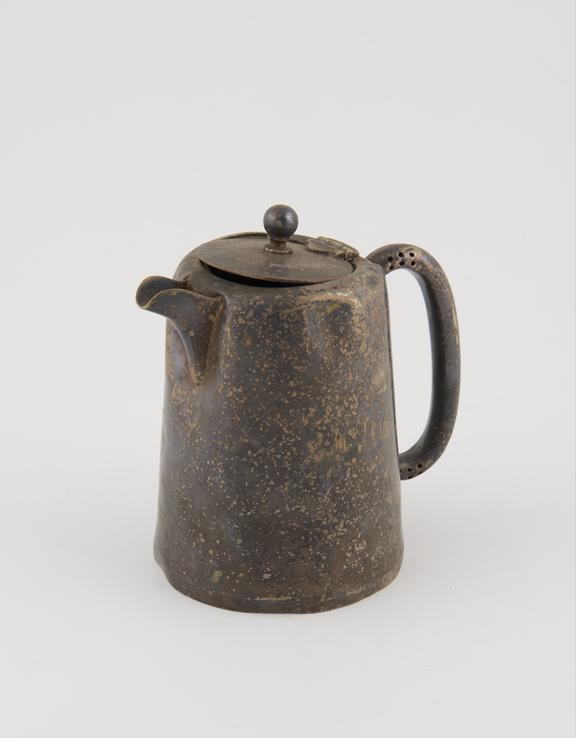 Chester plate metal tea pot, engraved L.M.T.O.H.', manufactured by A.P.Poston & Co. Ltd, from the Lord Mayor Treloar