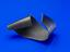 one curved sample of fabric-reinforced shape-changing polymer as researched for use in shape-changing aircraft.  Front