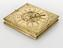 Tablet sun-dial, gilt metal (S-79) V and A M. reg. with three silvered plates, engraved Christophorus Schissler
