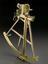Jesse Ramsden sextant. Full view, graduated matt black perspex background.