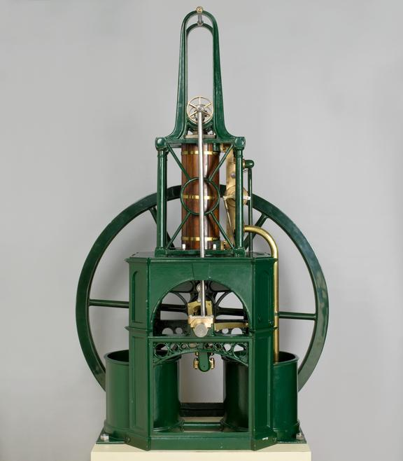 Table engine: patent granted to Henry Maudslay in 1807; this design c. 1815. model, scale approx. 1:2. Front View. Grey
