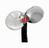 """Cast-steel two-bladed screw propeller from """"Miss England II"""" (1930) front facing image, white background."""