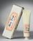 """Cardboard pack with a tube of Atkinsons' """"Rose Rachel"""" tint foundation cream. Graduated grey background. General view."""