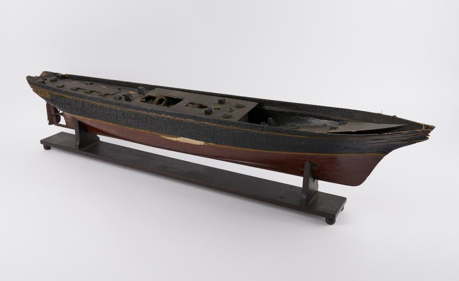 Whole model, scale 1:?, screw steamship Great Britain' built 1843, fitted with Lowes screw'
