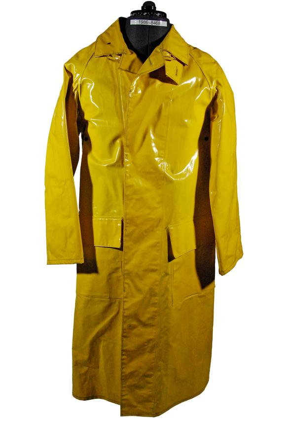 Yellow plastic raincoat, British Rail