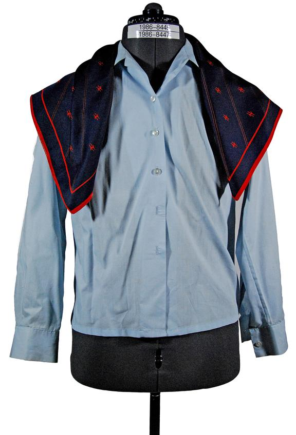 Station Manager blouse and scarf