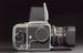 Hasselblad 500C/M camera, 1978. Side object view. Black background.