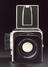 Hasselblad 500C/M camera, 1978. Front object view. Black background.