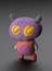 One of three 3D printed 'Crayon Creature' models, made from childrens drawings digitally rendered into 3D, by Crayon