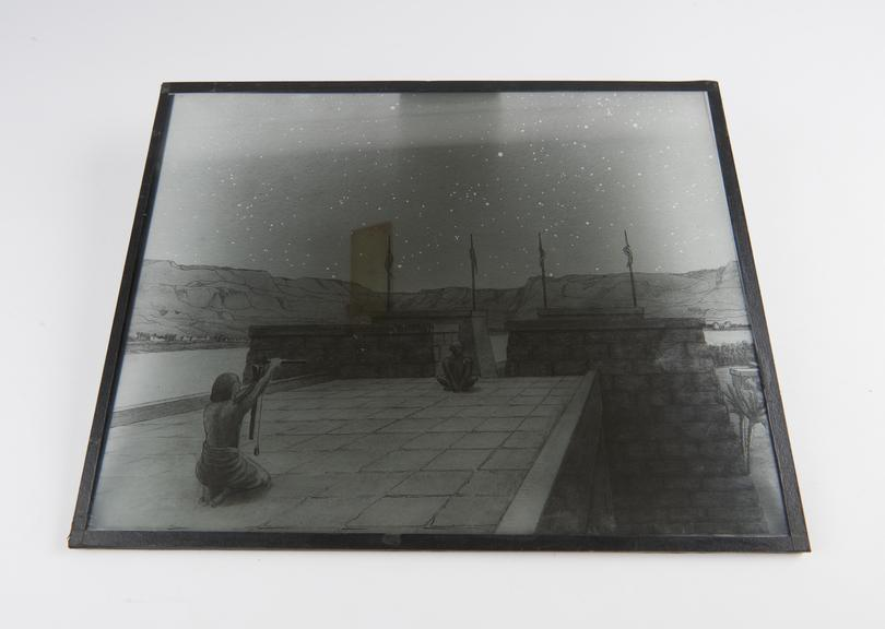 Transparency, 15x12', Egyptian Astronomers (from water-colour drawing)'